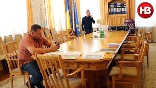 Последний день Филатова в Днепропетровской ОГА