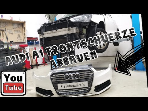 Audi A1 8x Stoßstange Stoßfänger Vorne ausbauen / remove replace Front Bumper