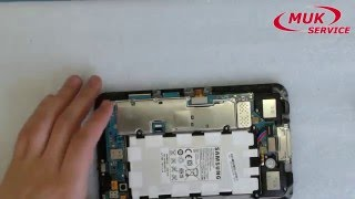 Замена батареи в планшете Samsung GT P6210. Ремонт планшета.