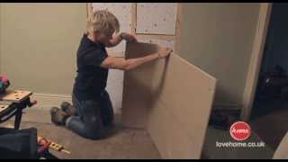 DIY: How to build a stud wall in an old doorway