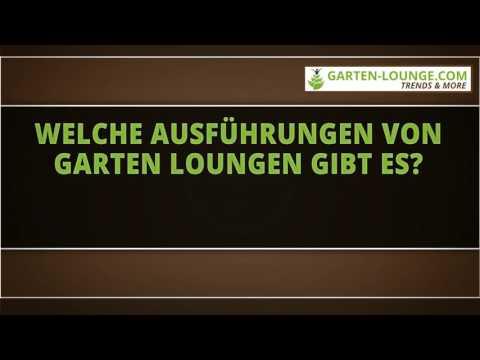 Welche Ausführungen von Garten Loungen gibt es