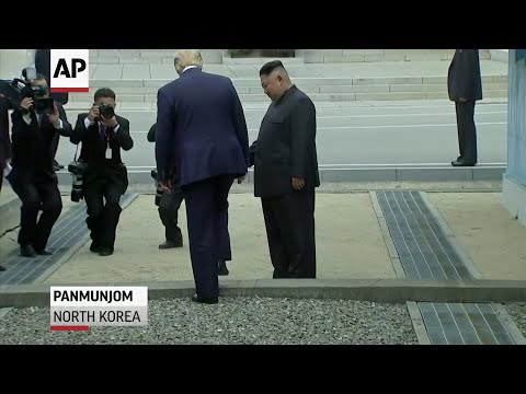 U.S. President Donald Trump and North Korea's Kim Jong Un shook hands across the border at the Korean Demilitarised Zone on Sunday, in an historic photo-op as Trump seeks to make a legacy-defining nuclear deal with the North. (June 30)