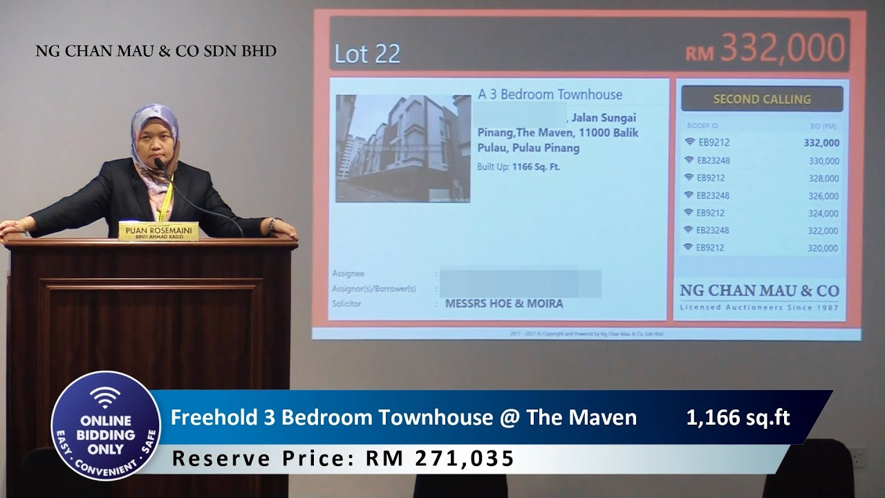 [SOLD RM336k only] Freehold 3 Bedroom Town House @ The Maven, Penang