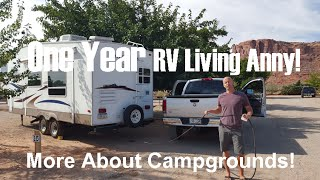 One Year RV Living Anny - Even More on Campgrounds!