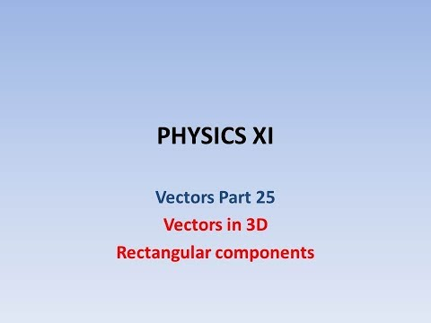 Vector components in 3D