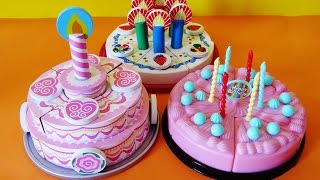 Toy velcro cutting birthday cakes strawberry cream cheesecake educational toys for kids