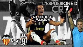 Cristiano Ronaldo ieri è stato espulso ingiustamente dopo aver accarezzato la testa del difensore del Valencia. La partita è finita 0-2 per la juventus con due rigori calciati da Pjanic. Ecco il commento di Cr7 su questa strana decisione dell'arbitro  ♦INSTAGRAM[ MOMOTDCP] ⇢http://bit.ly/2zG27jJ ♦Ascolta la mia canzone su Spotify: https://goo.gl/RLFgMv ♦Il mio negozio online: https://goo.gl/pfb29s  Canale ufficiale della pagina Facebook Tossicodipendenti con parastinchi ®.  ➤ Informazioni su Collaborazioni e sponsorizzazioni alla e-mail:   ↪info@socialflowagency.it  ➤ Email personale per informazioni, domande e merchandising ↪tossicodipendenti.parastinchi@gmail.com  »DOVE PUOI SEGUIRMI E CONTATTARMI« ♦GRUPPO UFFICIALE FACEBOOK ⇢ http://bit.ly/2zG3qyY ♦PROFILO FACEBOOK ⇢http://bit.ly/2yFi7SL ♦PAGINA FACEBOOK⇢http://bit.ly/2xdKndF ♦TELEGRAM⇢ http://bit.ly/2irOWPa