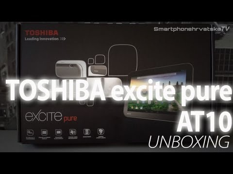 Toshiba excite pure AT10 Unboxing video