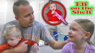 Baby Touches the Elf on the Shelf! Madison's Elf Loses Her Magic!!