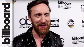 David Guetta Backstage After Opening The Show With Nicki Minaj at 2017 Billboard Music Awards
