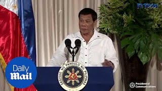 Philippines' Duterte wants China to rethink its behavior in airspace