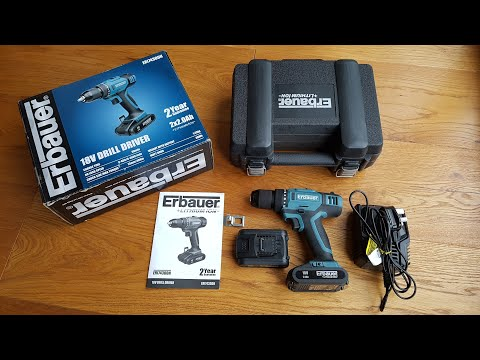 Erbauer ERI743DDH 18V 2.0Ah Li-Ion Cordless Drill Driver [Hands on Review and Test]