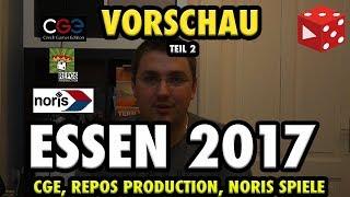 Essen Spiel 2017: Czech Games Edition, Repos Production, Noris Spiele ● Vorschau Teil 2