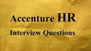 Accenture HR Interview Questions