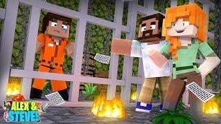 Minecraft STEVE GETS SENTENCED TO DEATH!!! Life of Alex & Steve - Video Youtube