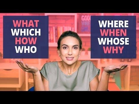 Question Words - Pra nunca mais errar | What, When, Where, How, Why, Who, Which