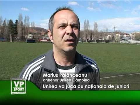 Unirea va juca cu naţionala de juniori