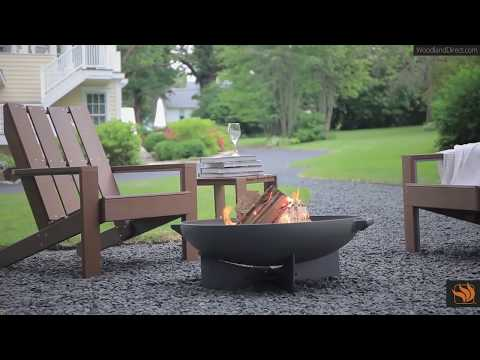 Real Flame Anson Wood Burning Fire Pit