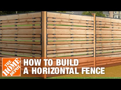 How To Build A Horizontal Fence