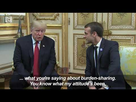 Macron, Trump in show of unity after defence row