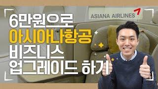 6만원 더 내고 아시아나항공 비즈니스클래스를 탈 수 있는 방법이 있다고?