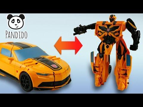 ⭕ Transformers Mega Flip Bumblebee Action Figur - Spielzeug ausgepackt und angespielt - Pandido TV