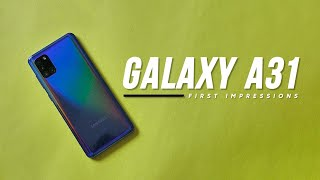 Samsung Galaxy A31 Unboxing and First Impressions!