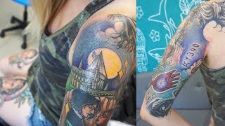 FINISHING MY HARRY POTTER SLEEVE (For Now) | Tattoo Vlog