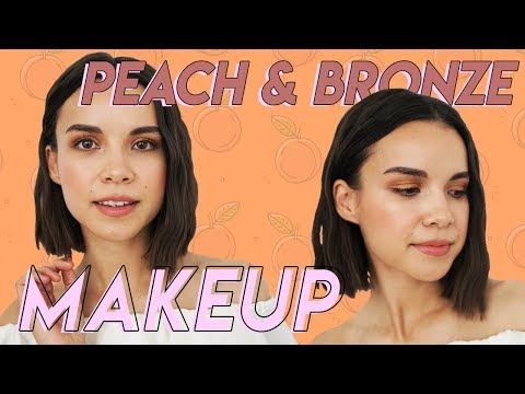 Peach + Bronze Makeup for Spring & Summer | Ingrid Nilsen