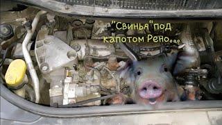 """Жесть на СТО или будни автомехаников #32 """"Свинья"""" под капотом у  Рено Сценик..."""