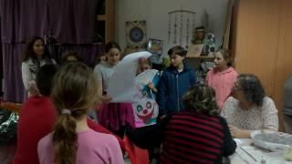 בקור ילדי ניצני זבולון בחוג קרמיקה דורות פורים 2017