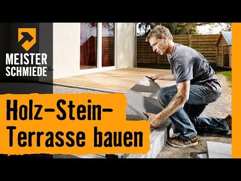 Holz-Stein-Terrasse bauen   HORNBACH Meisterschmiede