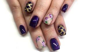 Watch Me Work   Hard Gel Nail Fill With Floral Nail Art & Stamping Gel