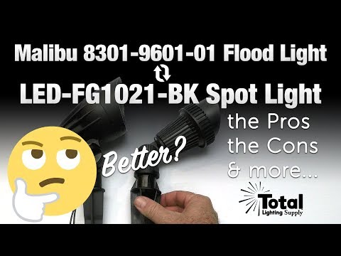Better? Malibu 8301-9601-01 outdoor landscape lighting flood light or our LED LED-FG1021-BK light