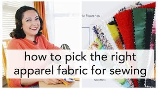How To Select Fabric For Sewing Projects | Vintage On Tap