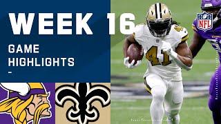 Vikings vs. Saints Week 16 Highlights | NFL 2020