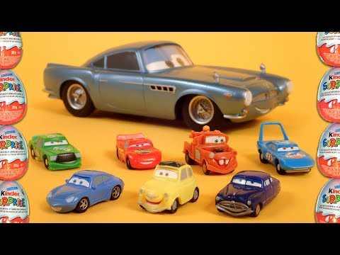 11 Disney Pixar Cars Kinder Surprise Eggs Toys Amazing Collection! Lightning McQueen And Friends!