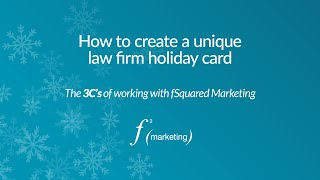 How to create a unique law firm holiday card