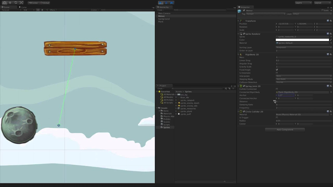 Spring Joint 2D - Unity Official Tutorials