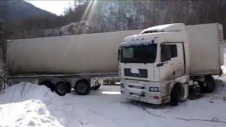 """Спасение """"опытного"""" водителя грузовика."""