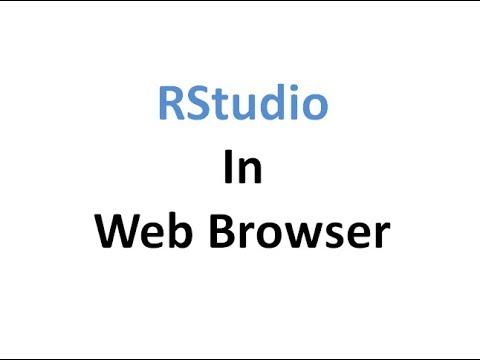 R - RStudio in Web browser