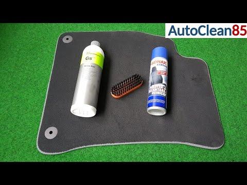 Fußmatten richtig reinigen / Schmutz und Gestank aus Fahrzeugtextilien entfernen / Auto aufbereiten