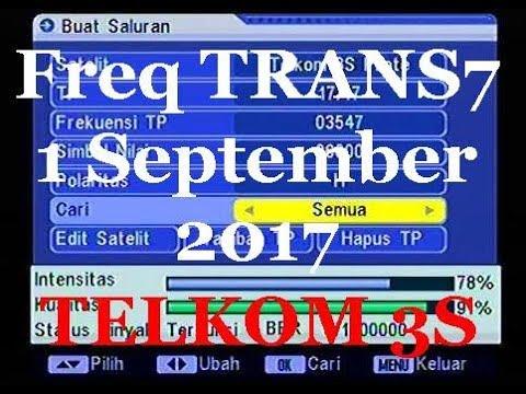 Freq Baru Trans7 / Trans 7 on TELKOM 3S 118 0°E | Protech Parabola ™