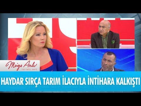 Haydar Sırça tarım ilacıyla intihara kalkıştı - Müge Anlı İle Tatlı Sert 11 Ekim 2018