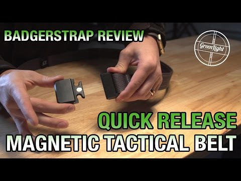 Quick Release Tactical Belt – Badgerstrap Belt Review