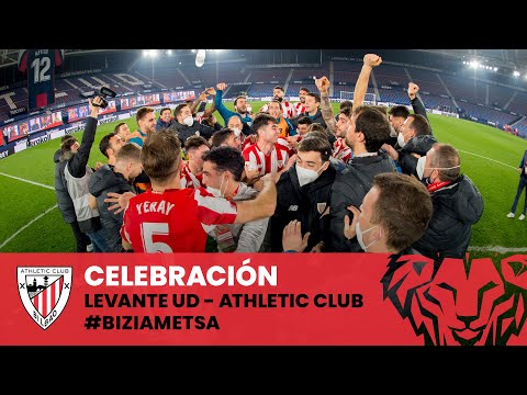 Celebration I Levante UD 1-2 Athletic Club I Copa 2021 Semi-final  I Ospakizuna