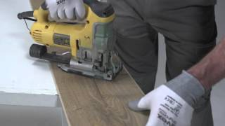 Installing laminate flooring: how to cut/saw laminate flooring