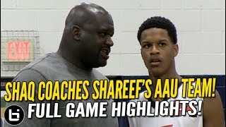Shareef O'Neal Goes OFF w/ Shaq Coaching Him & Cal Supreme vs Brad Beal!! Full Highlights!