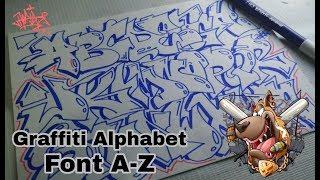 Graffiti Letters A-z Tutorial - Graffiti Alphabet A-Z - How To Do Graffiti A-Z