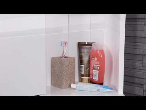 Croydex Simplicity Mirror Corner Bathroom Cabinet Video